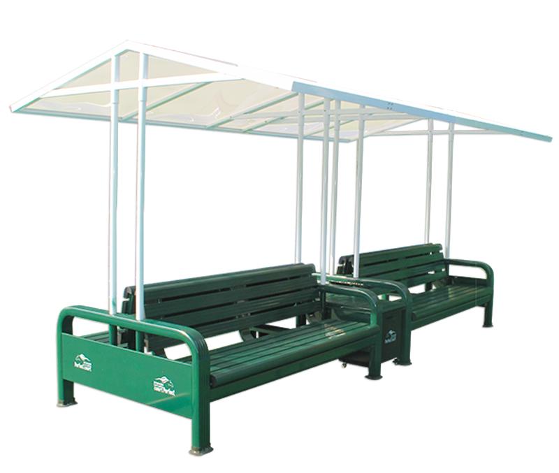 铝合金四靠背带遮阳棚休息椅  BM-1004(h)